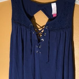 No Boundaries Tops - Nice like new navy blue ladies summer top size2x